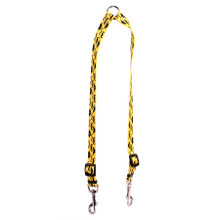 Mustaches On Yellow Coupler Dog Leash