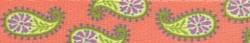 Melon Paisley Coupler Dog Leash
