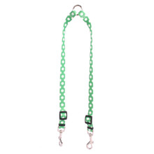 Lime Polka Dot Coupler Dog Leash