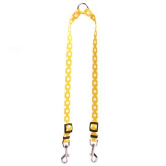Lemon Polka Dot Coupler Dog Leash