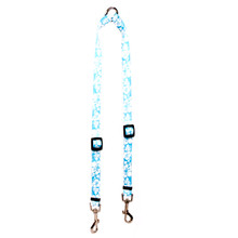 Island Floral Blue Coupler Dog Leash