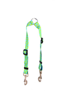 Green and Brown Polka Dot Coupler Dog Leash