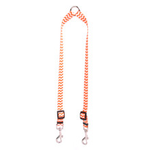 Chevron - Tangerine Coupler Dog Leash