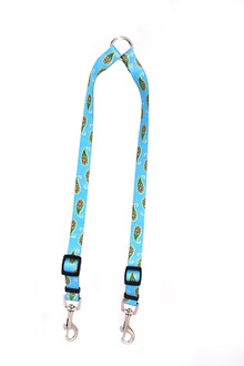 Blue Paisley Coupler Dog Leash