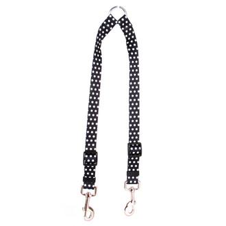 Black Polka Dot Coupler Dog Leash