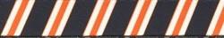Team Spirit Navy, Orange and White Coupler Dog Leash