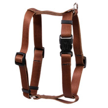"Solid Brown Roman Style ""H"" Dog Harness"