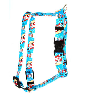 "Santa and Snowman Roman Style ""H"" Dog Harness"