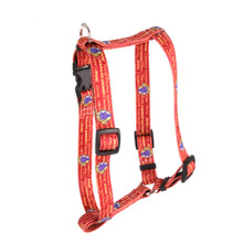 "Red Wine Roman Style ""H"" Dog Harness"