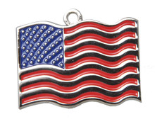 US Flag Pet ID Tag - With Engraving