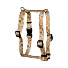 "Paw Prints in the Sand Roman Style ""H"" Dog Harness"