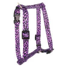 "Leopard Purple Roman Style ""H"" Dog Harness"