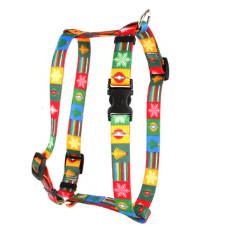 "Holiday Blocks Roman Style ""H"" Dog Harness"