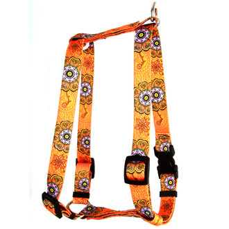 "Folk Flowers Roman Style ""H"" Dog Harness"