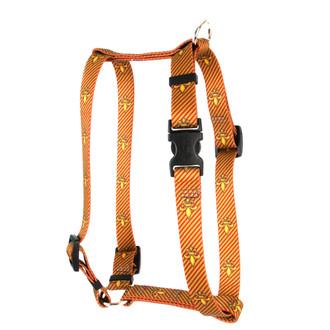 """Fleur de Lis Gold Roman Style """"H"""" Dog Harness"""