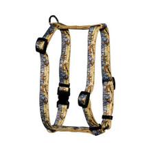 "Deer Print Roman Style ""H"" Dog Harness"