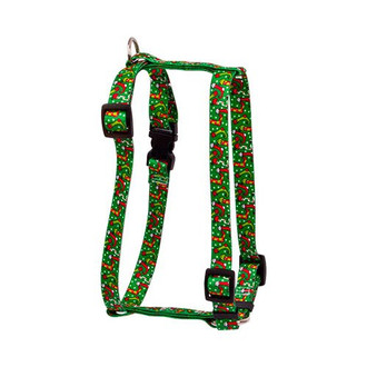 "Christmas Stockings Roman Style ""H"" Dog Harness"