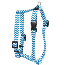 "Chevron - Blueberry Roman Style ""H"" Dog Harness"