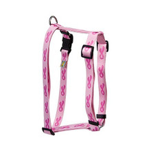 """Breast Cancer Pink Roman Style """"H"""" Dog Harness"""
