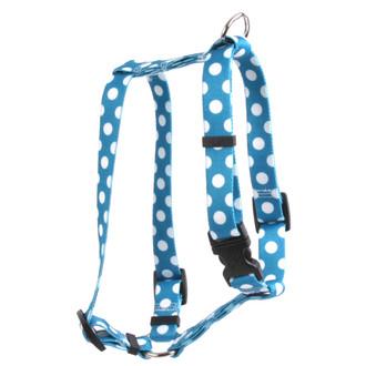 "Blueberry Polka Dot Roman Style ""H"" Dog Harness"