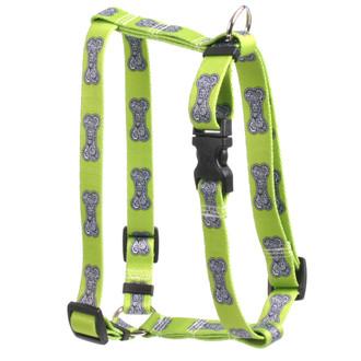 "Bella Bone Green Roman Style ""H"" Dog Harness"
