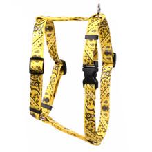 """Bandana Yellow Roman Style """"H"""" Dog Harness"""