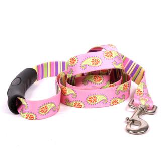 Pink Paisley EZ-Grip Dog Leash