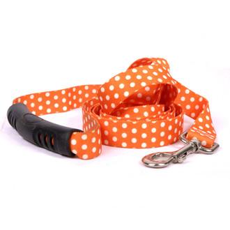 Orange Polka Dot  EZ-Grip Dog Leash