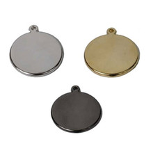 Circle Shape Engraved Pet ID Tag