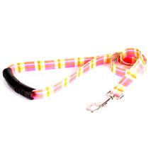 Madras Pink EZ-Grip Dog Leash