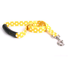 Lemon Polka Dot EZ-Grip Dog Leash