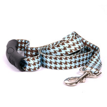 Houndstooth Blue and Brown EZ-Grip Dog Leash