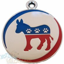 Democratic Party Pet ID Tag - Lifetime Guarantee