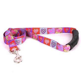 Crazy Hearts EZ-Grip Dog Leash