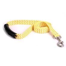 Chevron - Lemon EZ-Grip Dog Leash