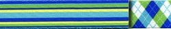 Blue and Green Stripes EZ-Grip Dog Leash