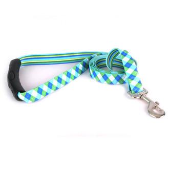 Blue and Green Argyle EZ-Grip Dog Leash