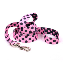 Pink and Black Polka Dot Dog Leash