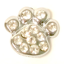 Paw Print Charm - Clear (10mm)