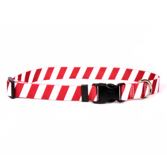 Team Spirit Red and White Dog Collar