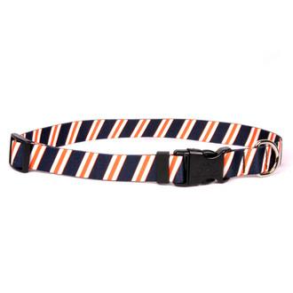 Team Spirit Navy, Orange and White Dog Collar