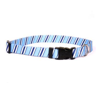 Team Spirit Lt. Blue, Dark Blue and White Dog Collar