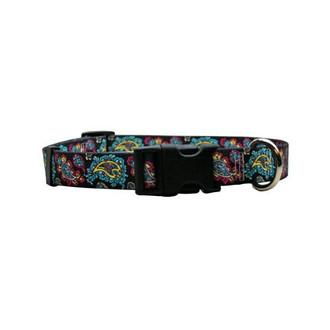 Black Paisley Dog Collar