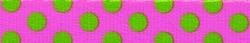 Pink and Green Polka Dot Waist Walker