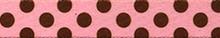 Pink and Brown Polka Dot Waist Walker