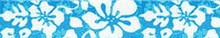 Island Floral Blue Waist Walker