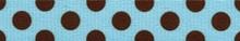 Blue and Brown Polka Dot Waist Walker