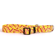 Hot Dogs Martingale Dog Collar