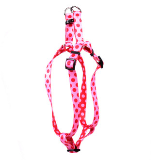 Valentine Polka Dot Step-In Dog Harness