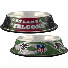 Atlanta Falcons Stainless Steel NFL Dog Bowl